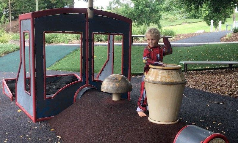 photo - queens park playground train drum