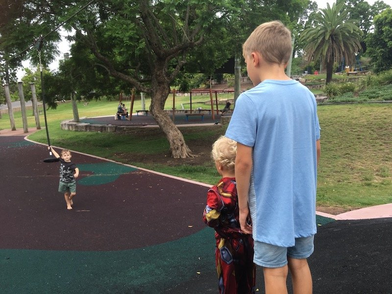 photo - queens park playground zipline pic