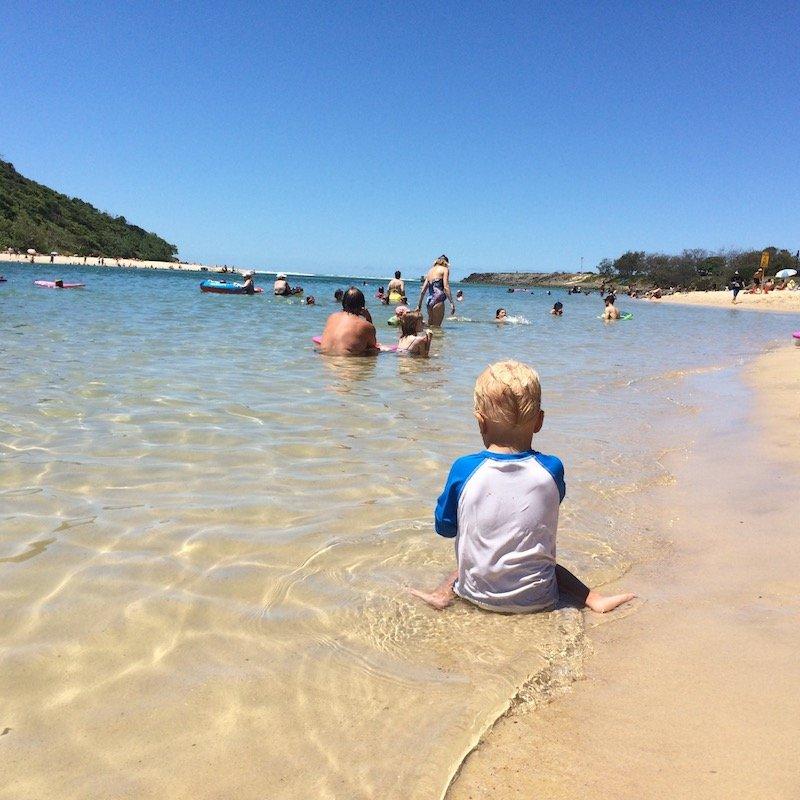 photo - tallebudgera creek beach swimming