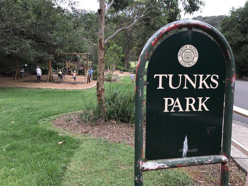 photo - tunks park sign