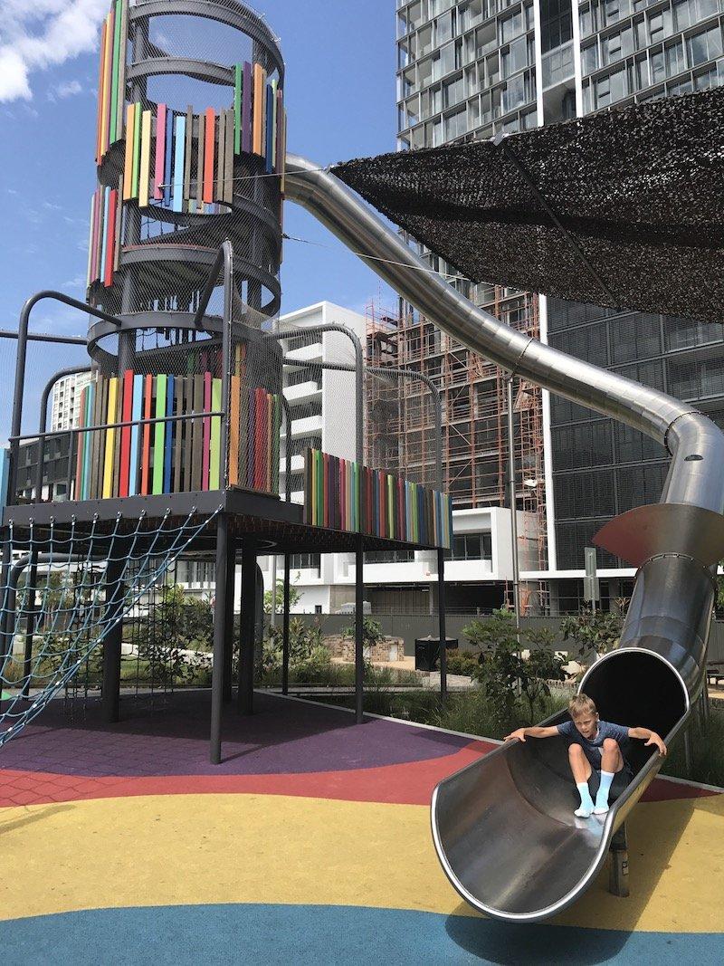 photo - wulaba park playground ned on slide
