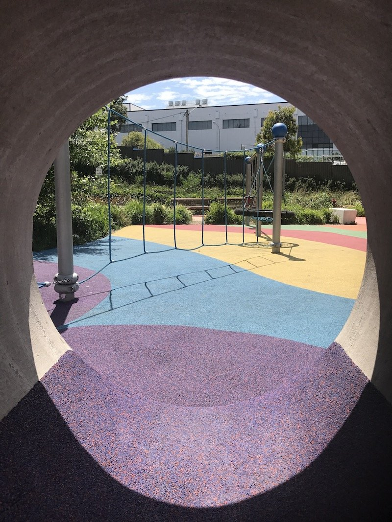 photo - wulaba park playground tunnel to outside