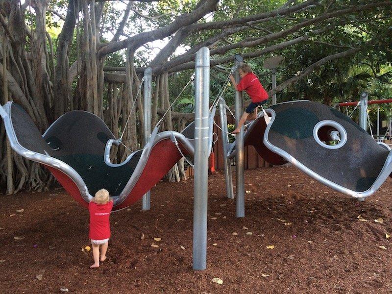 picnic island green playground climbing frame pic
