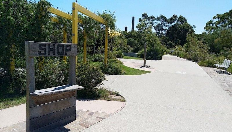 sydney park bike track shop front pic by eli algranti