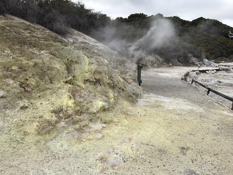 Rotorua yellow rock pic