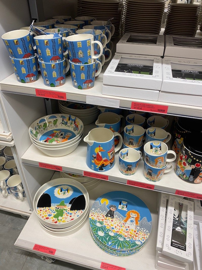Image - Iittala outlet store finland moomin plates and cups