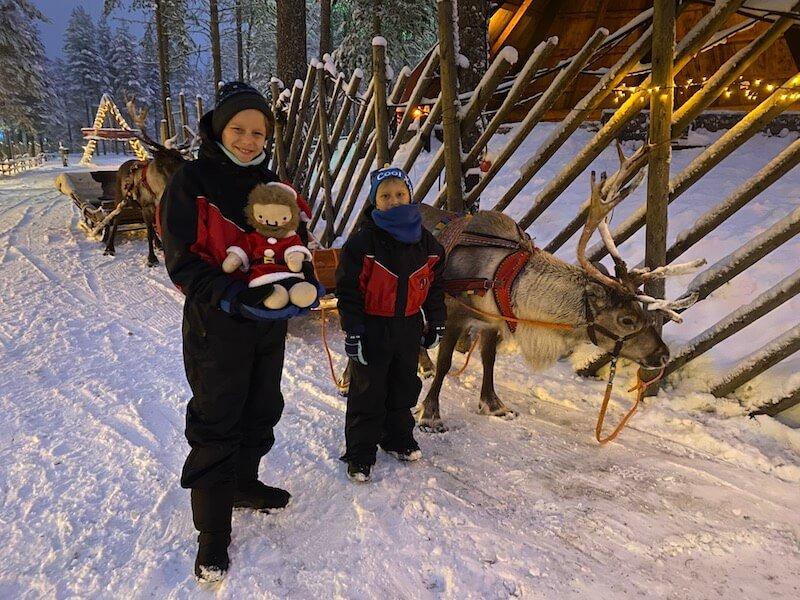Image - reindeer ride rovaniemi at santa claus village