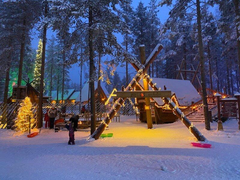 Image - reindeer ride rovaniemi exterior of santa claus Image - reindeer office