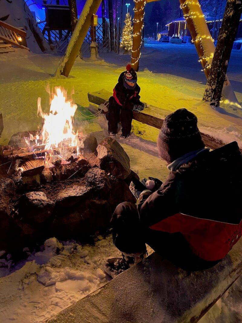 Image - reindeer ride rovaniemi fire pit