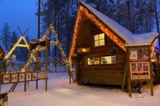 Image - reindeer ride rovaniemi office of santa claus Image - reindeer