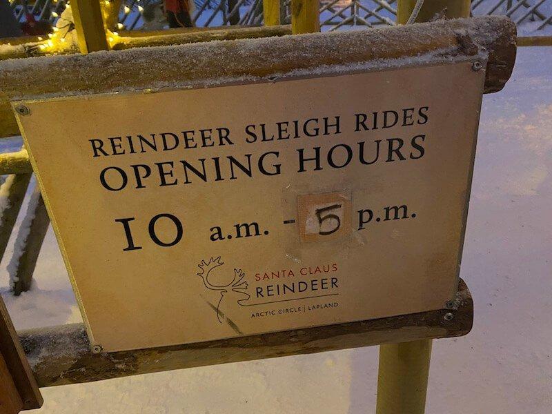Image - reindeer ride rovaniemi - opening hours at santa claus Image - reindeer