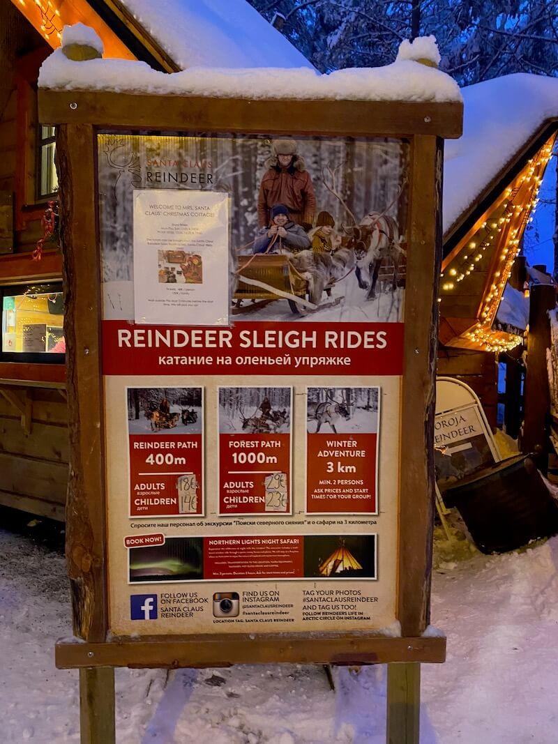 Image - reindeer ride rovaniemi poster