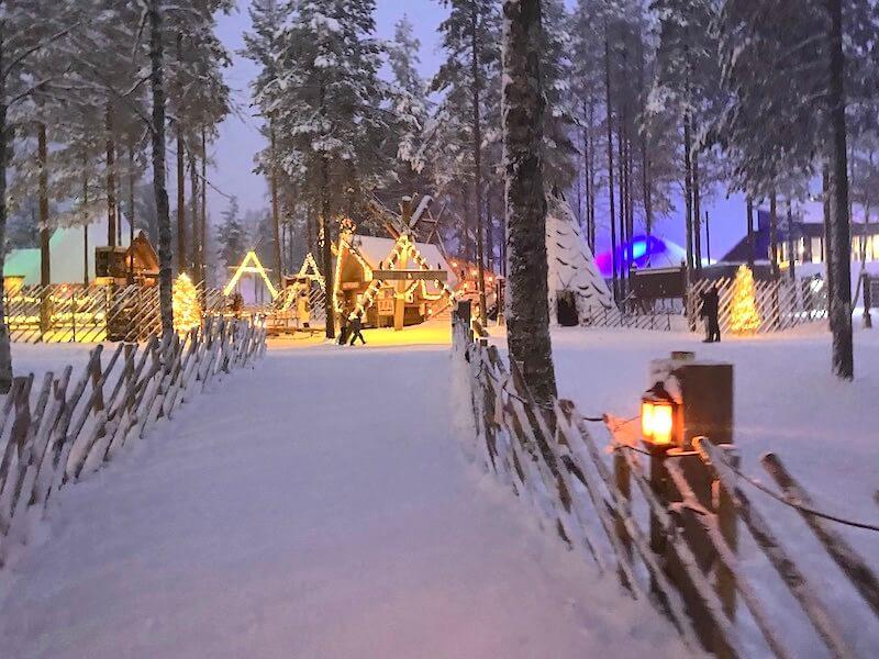 Image - reindeer ride rovaniemi road to santa claus Image - reindeer