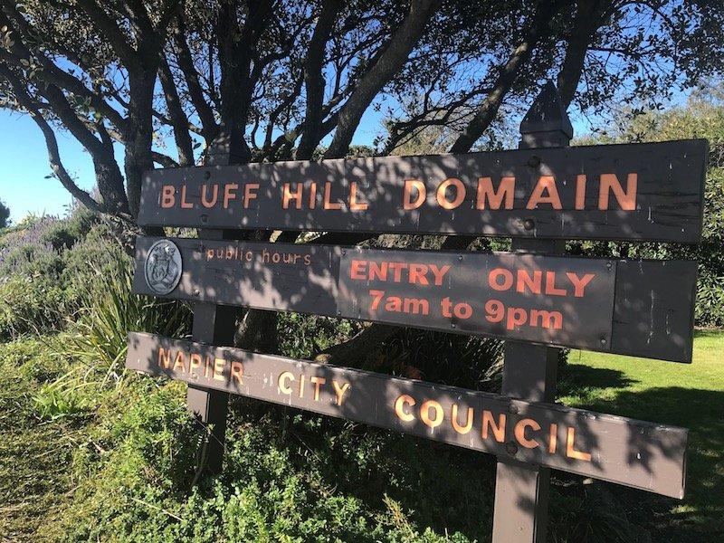 Napier attractions Bluff Hill Domain pic
