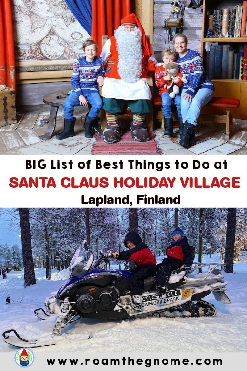 PIN best things to do at santa claus holiday village
