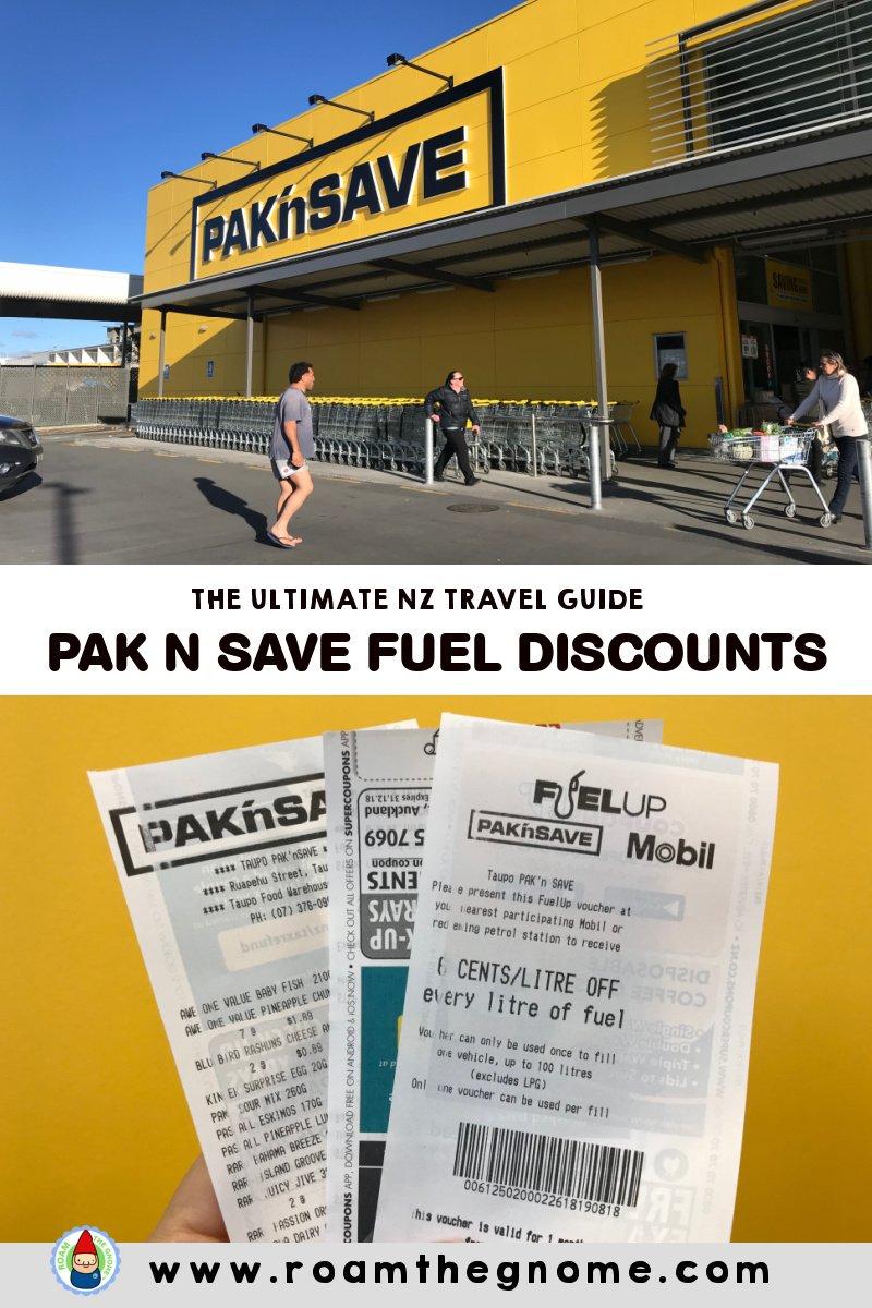 PIN pak n save fuel discounts