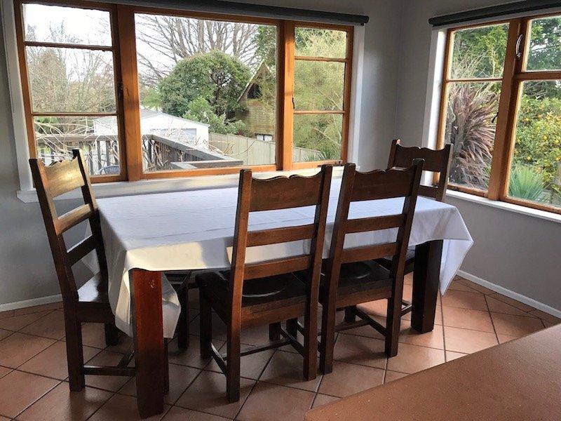 Photo - Rotorua family accommodation dining table