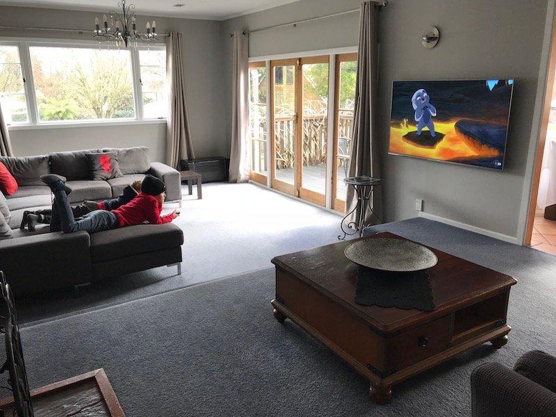 Photo - Rotorua family accommodation tv room