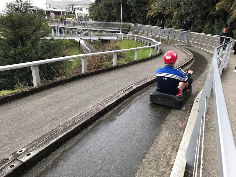 Photo - Skyline Rotorua Luge downward run