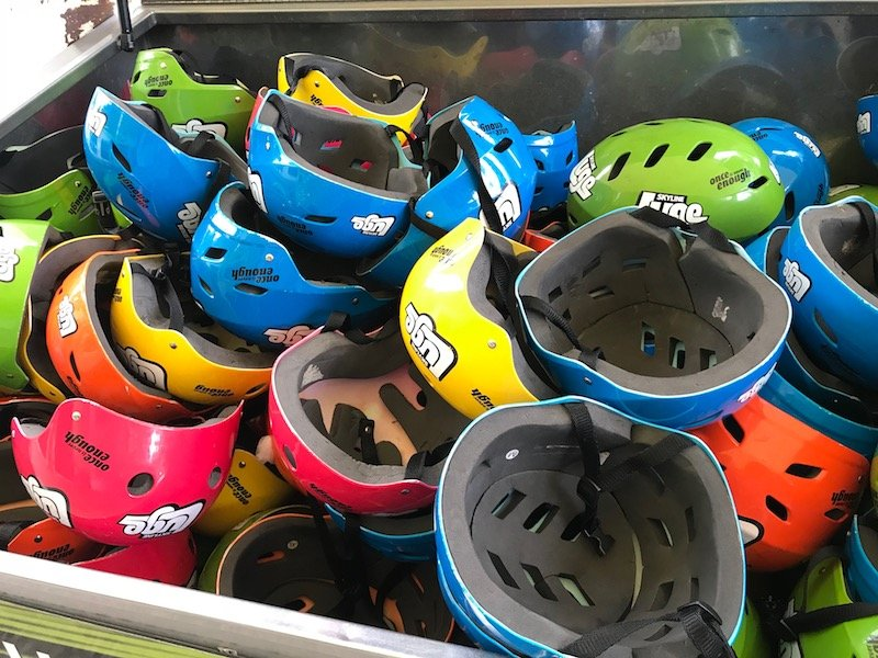 Photo - Skyline Rotorua Luge helmets