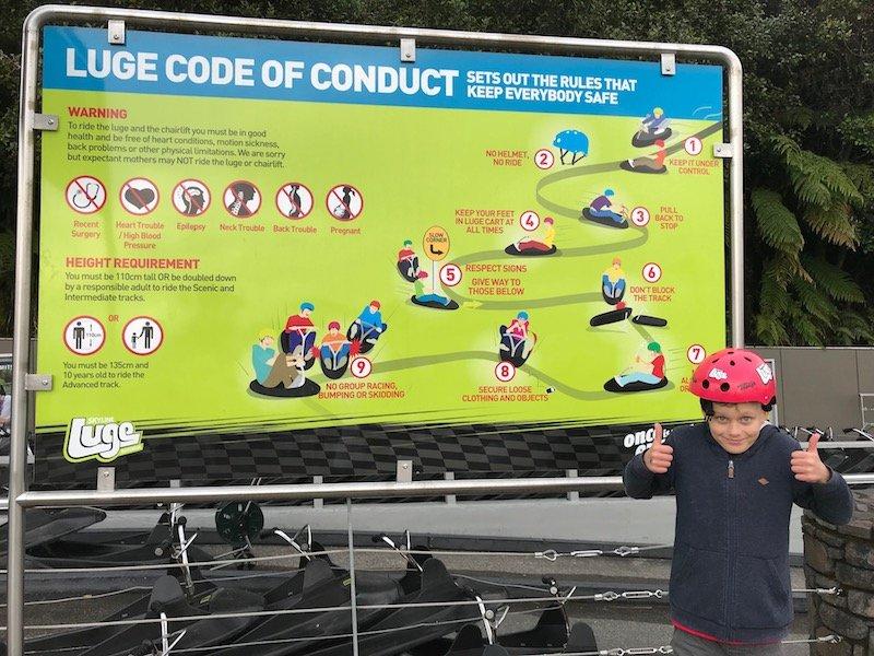 Photo - Skyline Rotorua Luge signboard