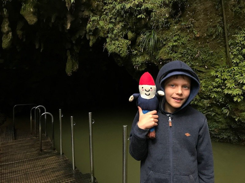 Photo- Waitomo caves for kids end of tour