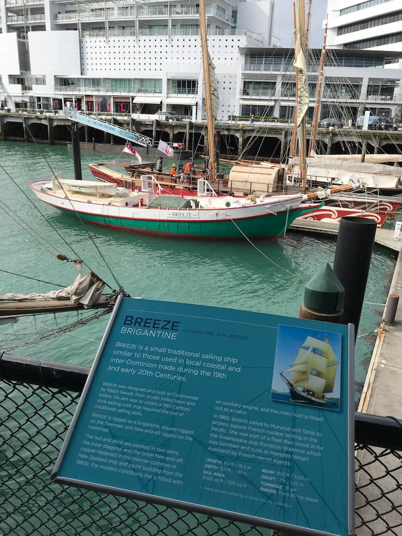 Photo - auckland maritime museum signage of boat