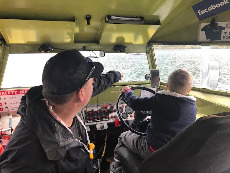 Photo - jack driving the rotorua duck tours