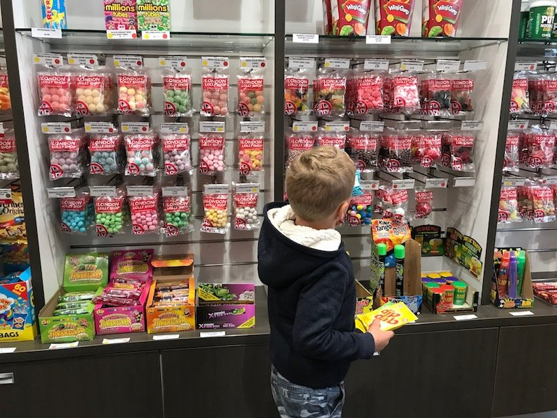 Photo - jack in london lolly shop auckland