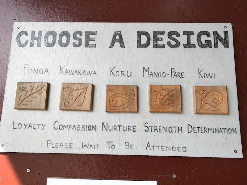 Photo- maori carving designs at hells gate thermal park