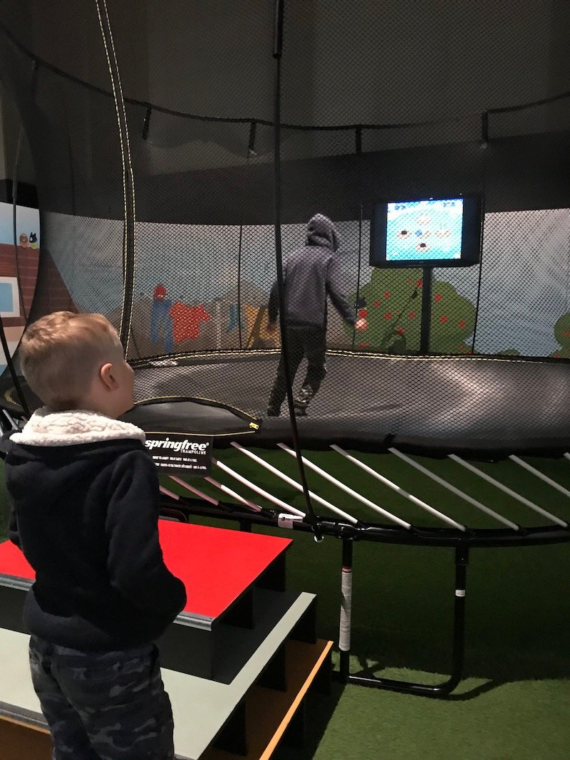 Photo - motat innovation hub trampoline game