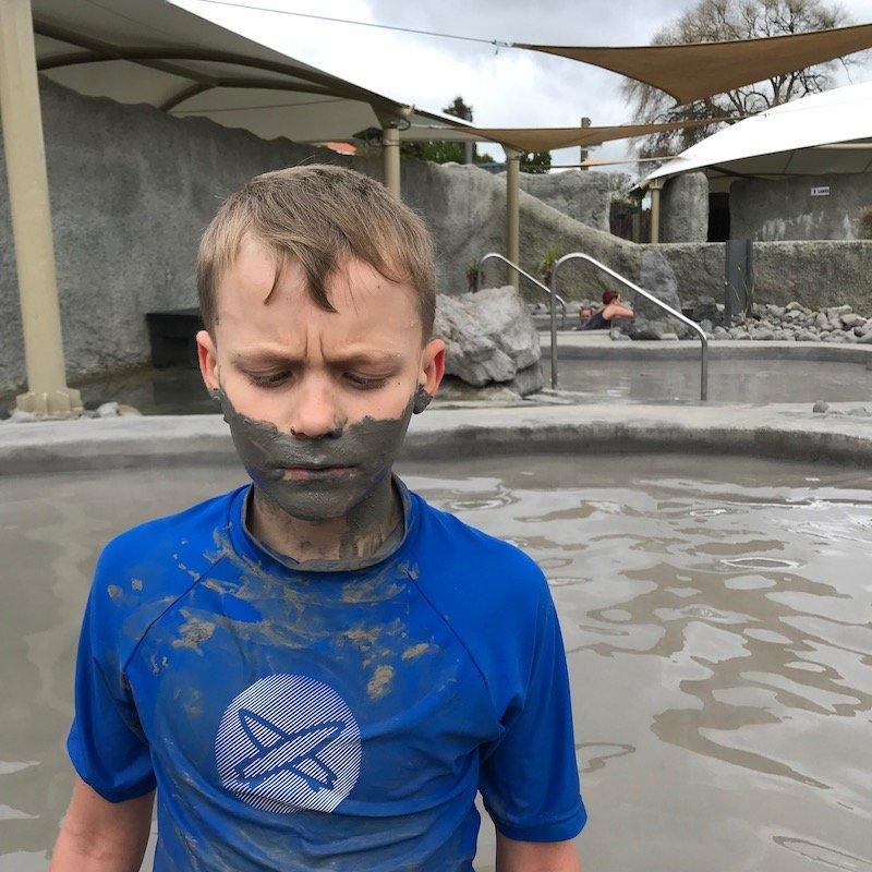 Photo- mud on face