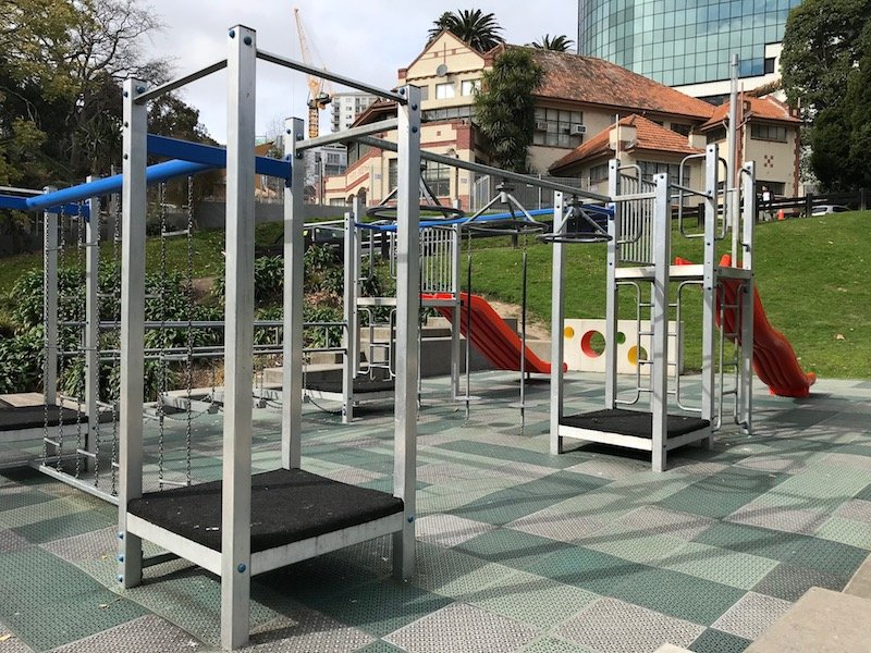 Photo - myers park playground climbing frames