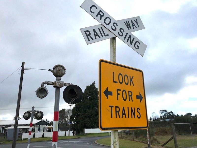 Photo - rotorua railcruising train station crossing sign