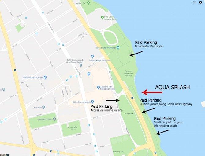 aqua splash parking