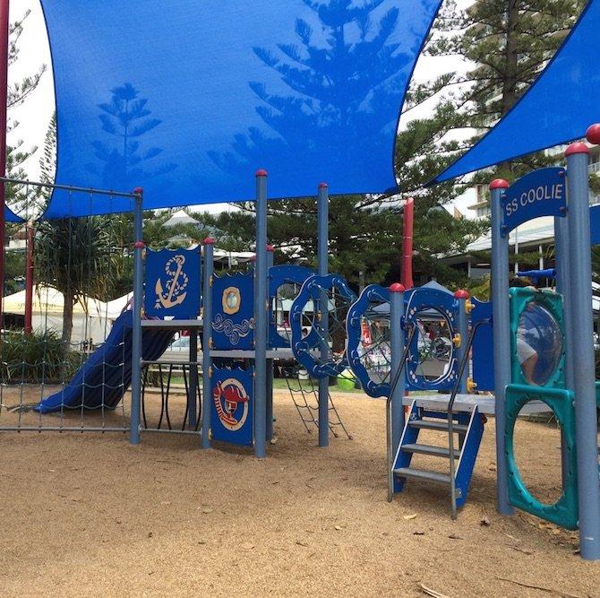 coolangatta queen elizabeth park playground view pic
