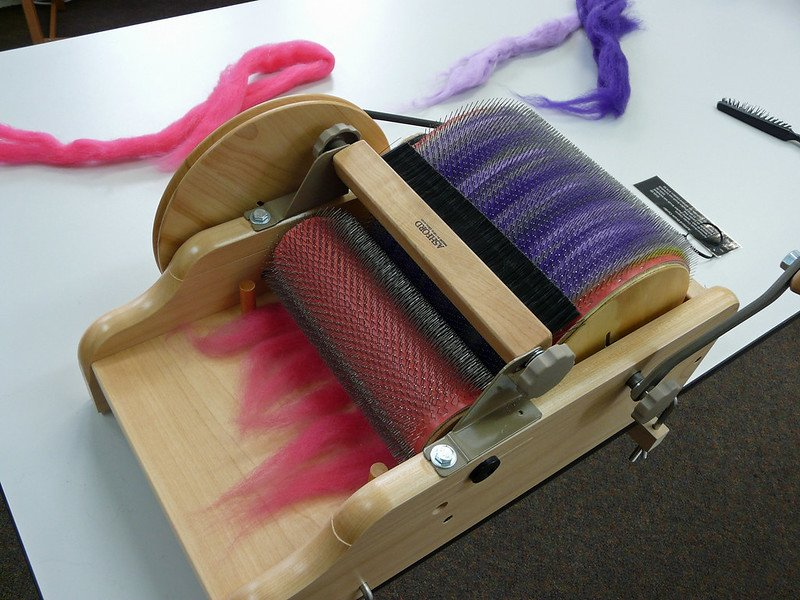 drum carder at ashford craft shop pic by jane nearing