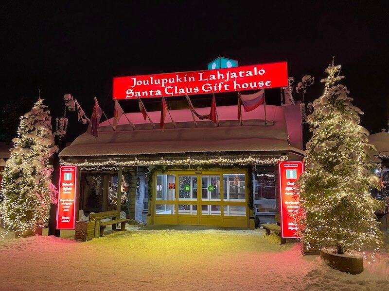 image - arctic circle bus stop information centre at santa claus gift shop