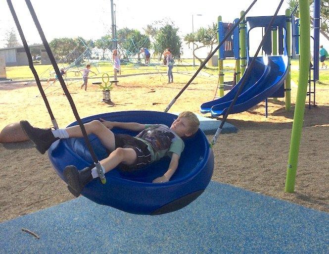 image - kirra beach playground swing
