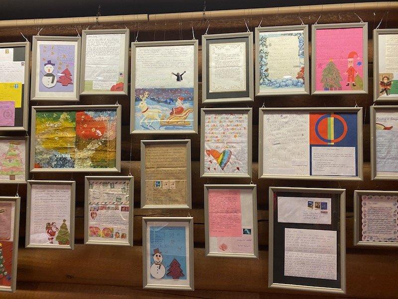 image - official santa post office framed letters
