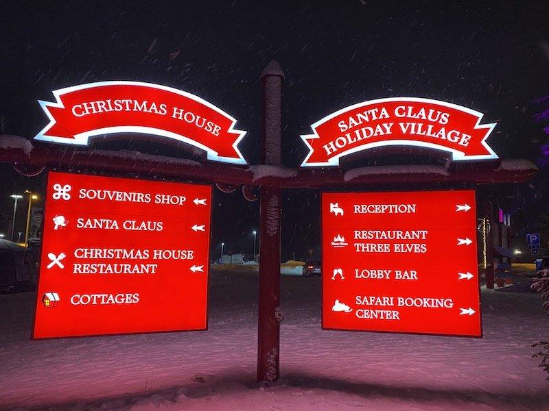 image - santa claus holiday village illuminated signs
