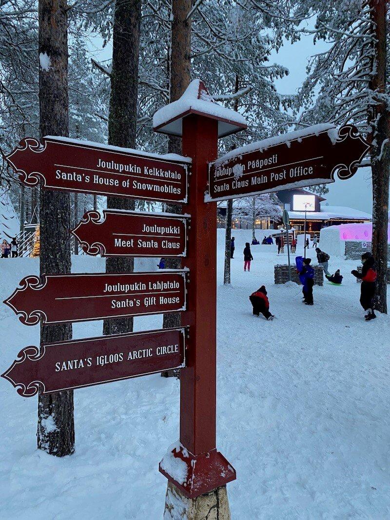 image - santa claus holiday village sign