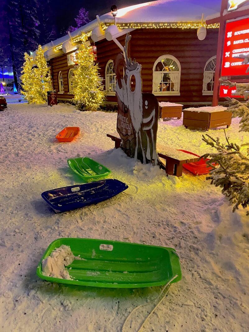 image - santa claus holiday village sled