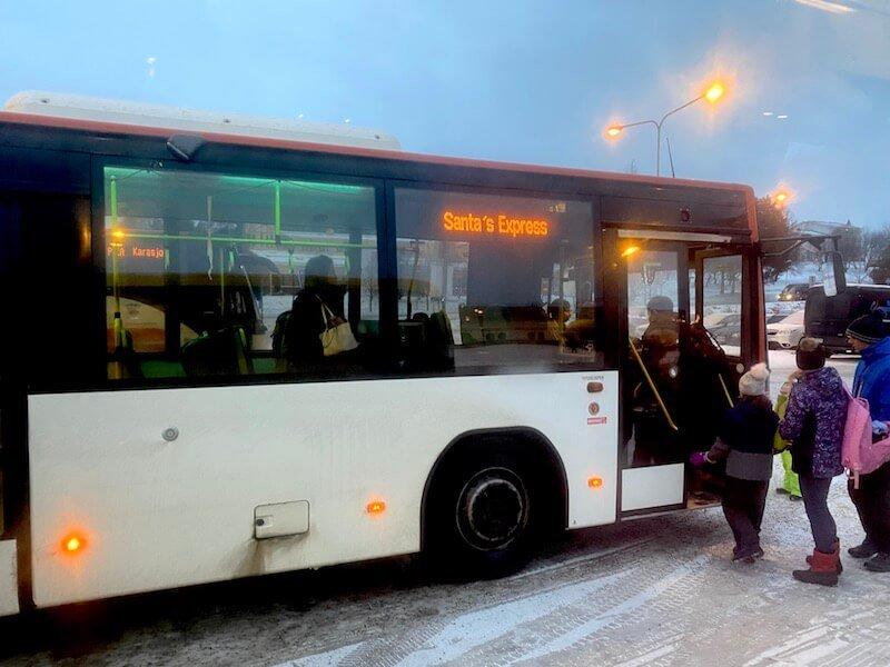 image - santa express bus