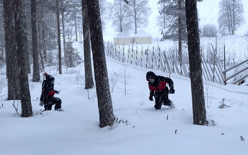 image - santa fun day playing-in-the-snow-at-rovaniemi
