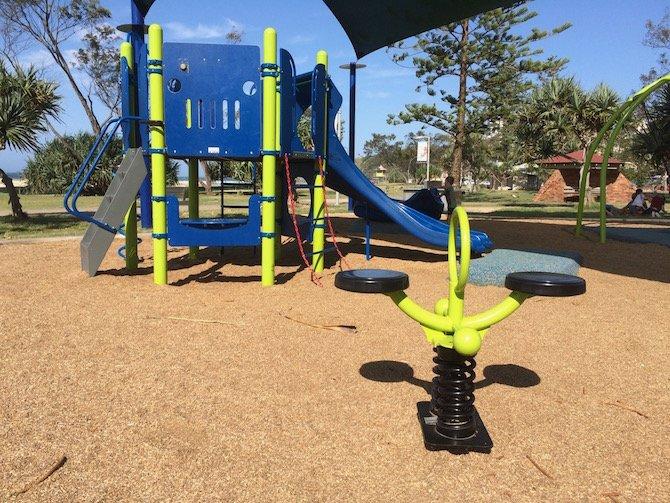 kirra beach playground view pic