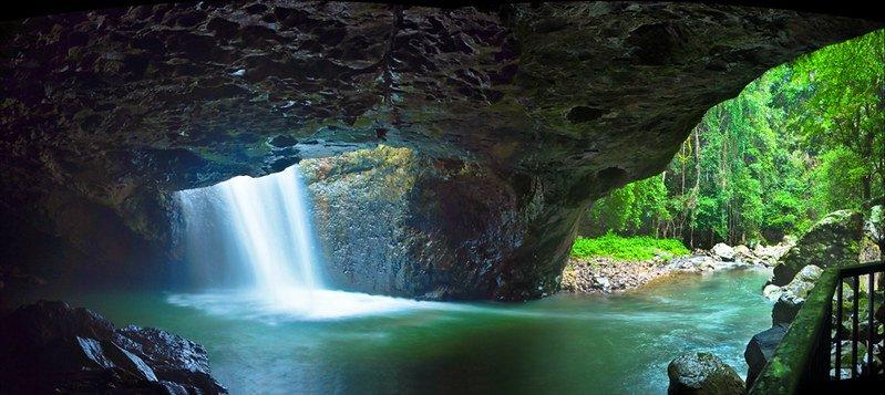 natural bridge springbrook national park by michael lynch