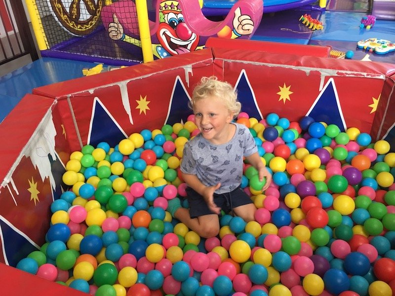 photo - big top playhouse ball pit for toddlers
