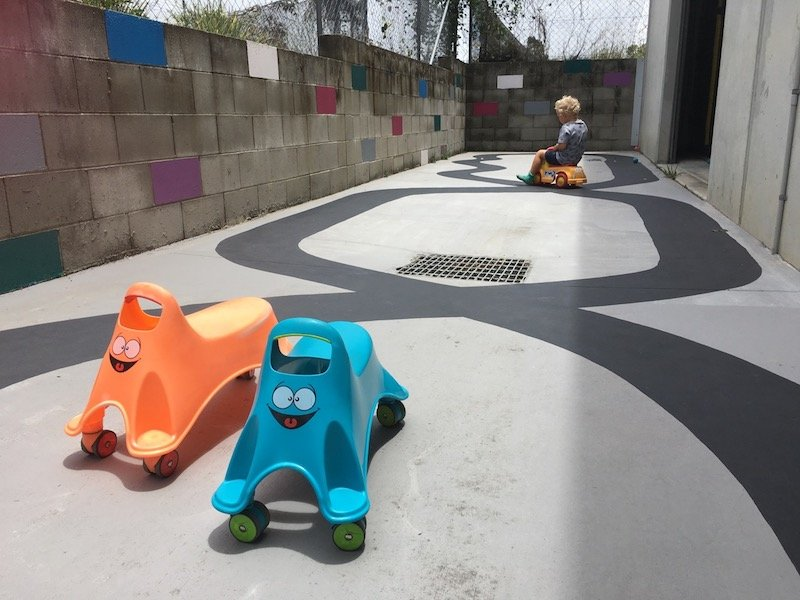 photo - big top playhouse race track for kids