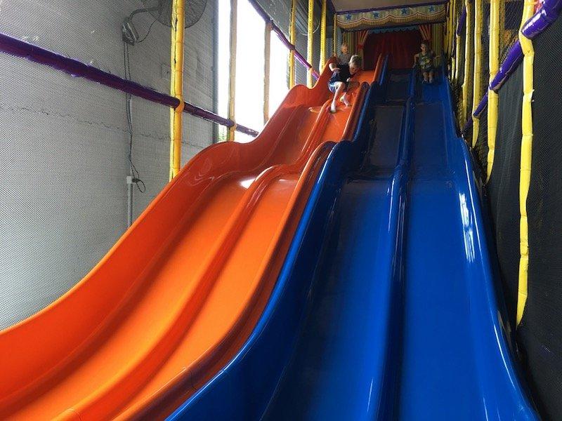 photo - big top playhouse slides